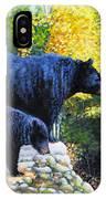 Black Bear And Cub IPhone Case