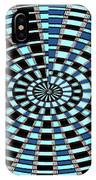 Blue And Black Abstract IPhone Case