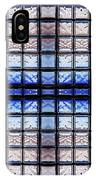 Blue Toned Glass Brick Window Abstract  IPhone Case