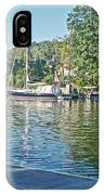 Boats On The Kalamazoo River In Saugatuck, Michigan IPhone Case