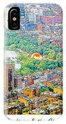 Boston Rooftops And The Charles River IPhone Case
