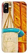 Breeches Buoy In Sleeping Bear Point Boathouse In Sleeping Bear Dunes National Lakeshore-michigan IPhone Case