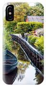Bridge And River In Old Dutch Village IPhone Case