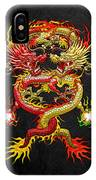Brotherhood Of The Snake - The Red And The Yellow Dragons IPhone Case
