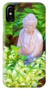 Buddha In The Garden IPhone Case
