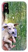 Burmese Girl With Puppy IPhone Case