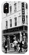 caffe napoli on the corner of mulberry street and hester st  little italy New York City USA IPhone Case