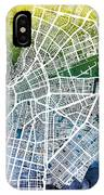 Cali Colombia City Map IPhone Case