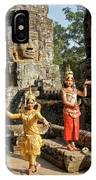 Cambodian Dancers At Angkor Thom IPhone Case