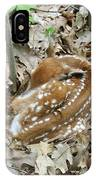 Camouflaged Fawn IPhone Case