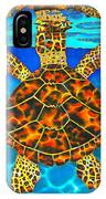 Caribbean Hawksbill Sea Turtle IPhone Case