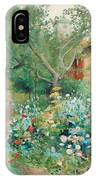 Carl Larsson, Garden Scene From Marstrand On The West Coast Of Sweden. IPhone Case