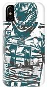 Carson Wentz Philadelphia Eagles Pixel Art 7 IPhone Case