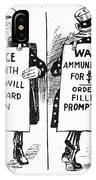 Cartoon: U.s. Neutrality IPhone Case