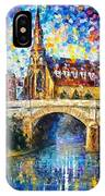 Castle By The River - Palette Knife Oil Painting On Canvas By Leonid Afremov IPhone Case
