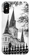 Cathedral Basilica - Square Bw IPhone Case