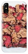 Chocolate Cake With Strawberry On Porcelain Plate IPhone Case