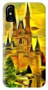 Cinderella Castle - Van Gogh Style IPhone Case