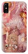 Close-up Of Toys On Christmas Tree IPhone Case