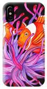 Clownfish And Sea Anenome  IPhone X Case