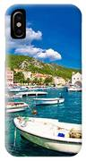 Coastal Town Of Hvar Waterfront Panorama IPhone Case