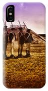 Colonial Soldiers At Fort Mifflin IPhone Case