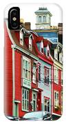 Colorful Houses In St. Johns In Newfoundland IPhone Case