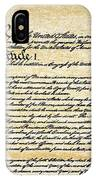 Constitution IPhone Case