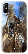 Corn Stalks Drying In The Sun IPhone Case