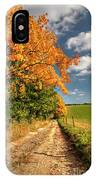 Country Road And Autumn Landscape IPhone Case