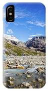 Crossing A River In Patagonia IPhone Case