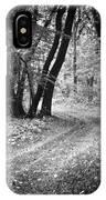 Curving Trail Entering Deciduous Forest IPhone Case