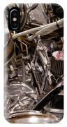 Custom Car Chromed Engine IPhone Case