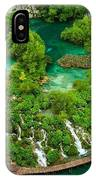 Dave Ruberto - Wonderful Green Nature Waterfall Landscape  IPhone Case