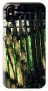 Detail Of An Old Wooden Fence IPhone Case