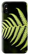 Detail Of Asian Rain Forest Ferns IPhone Case
