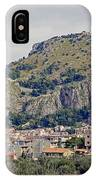 Distant View Of Cefalu Sicily  IPhone Case