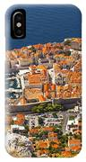 Dubrovnik Old Town From Above IPhone Case