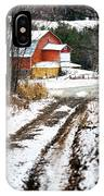 Early Winter Barn IPhone Case