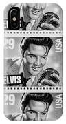 Elvis Commemorative Stamp January 8th 1993 Painted Bw IPhone Case