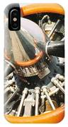 Engine And Propellers Of Aircraft Close Up IPhone Case
