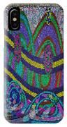 Ethnic Wedding Decorations Abstract Usring Fabrics Ribbons Graphic Elements IPhone Case