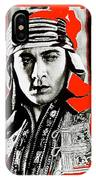 Film Homage Rudolph Valentino The Shiek 1921 Collage Color Added 2008 IPhone Case