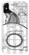 Fireman's Helmet Patent IPhone Case