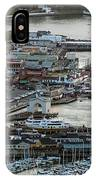 Fisherman's Wharf And Pier 39 Aerial Photo IPhone Case
