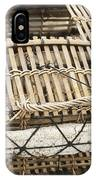 Fishermen Bamboo Crab Cages At Kep Market Cambodia IPhone Case