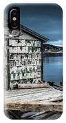 Fishing Shack And Wharf In Norris Point, Newfoundland IPhone Case