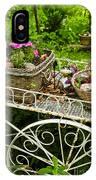 Flower Cart In Garden IPhone Case
