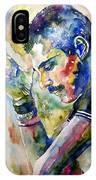 Freddie Mercury Watercolor IPhone Case