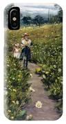 Gathering Wild Flowers IPhone Case